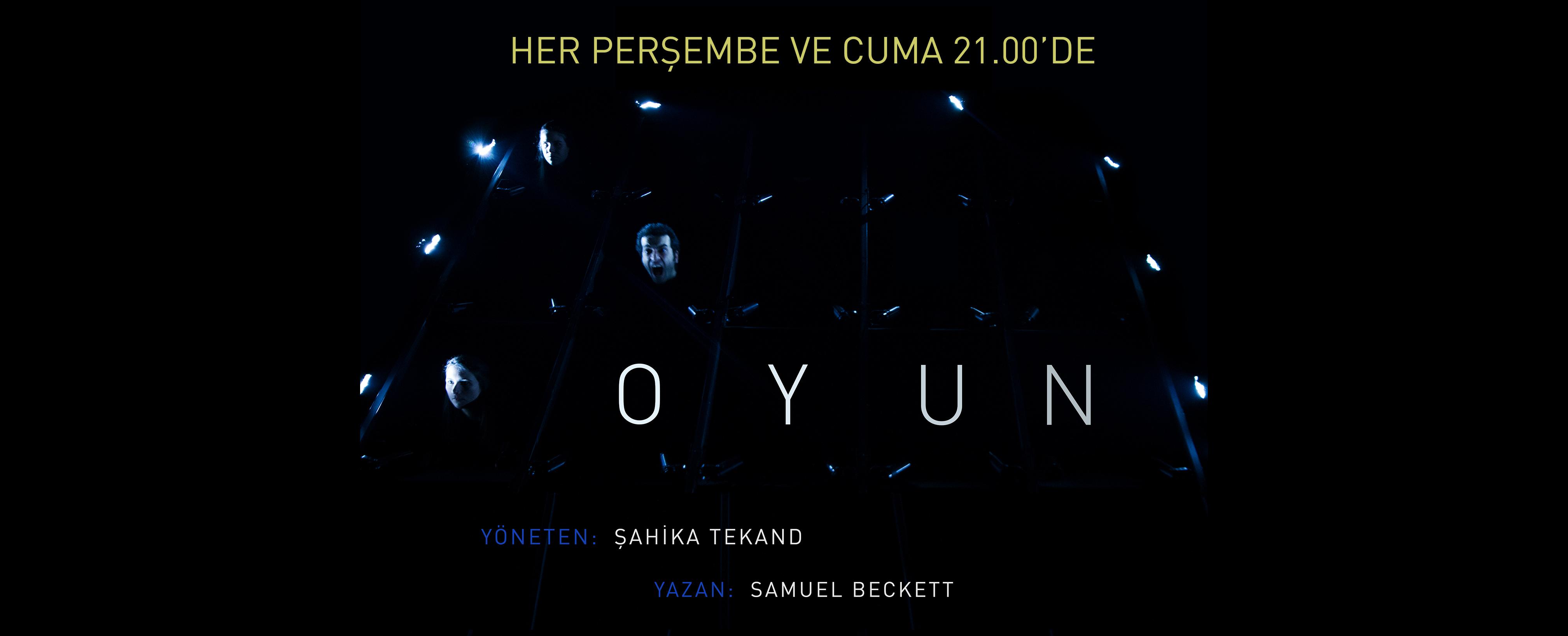 """Samuel Beckett'in """"Oyun""""u  Şahika Tekand yönetiminde Studio Oyuncuları sahnesinde"""