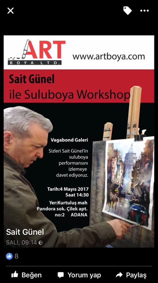 Sait Günel - Sulu Boya Workshop