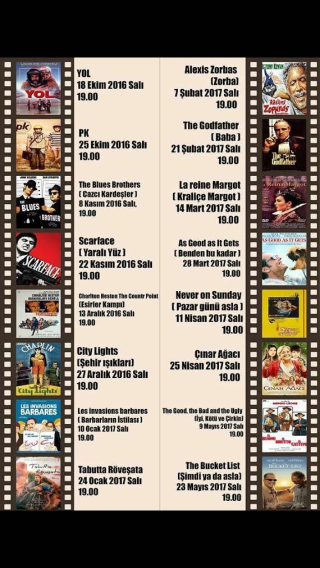 İçel Sanat Kulübü 2016-2017 Sinema Günleri